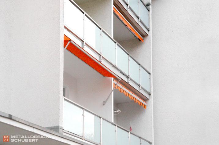 Balkongeländer Berlin-Schmargendorf Edelstahl Glas