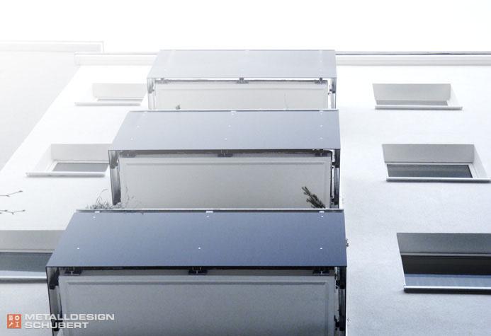 Balkon Geländer Berlin Stahl Kunststoff