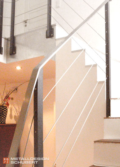 Treppengeländer Edelstahl mit Seilen Potsdam