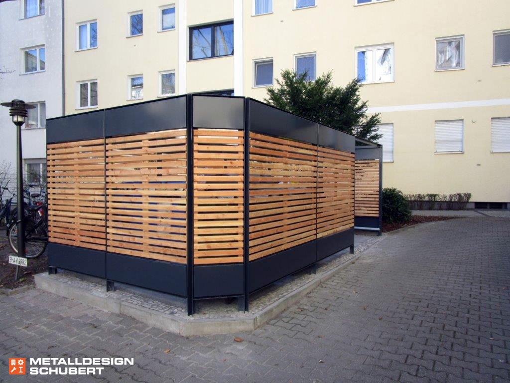 Müllplatz Mülleinhausung modern Design Berlin