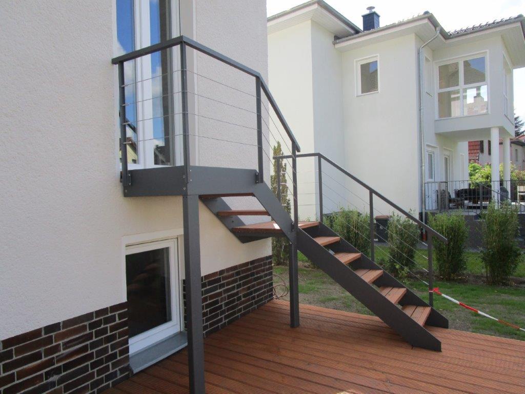 Außentreppe, modern, Designtreppe, Terrasse, Berlin-Lichterfelde, Ziesar