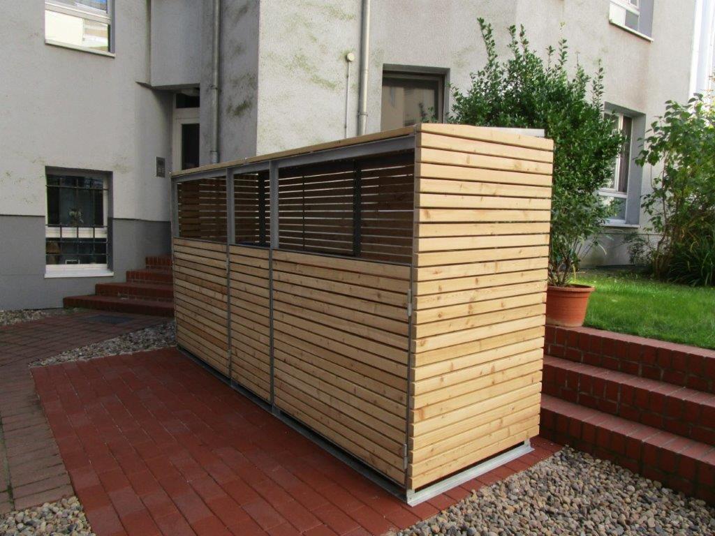 Müllbox sibirische Lärche modern Berlin-Friedenau